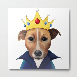 The Jack Russell Queen Metal Print