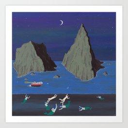 Evil Mermaids Art Print