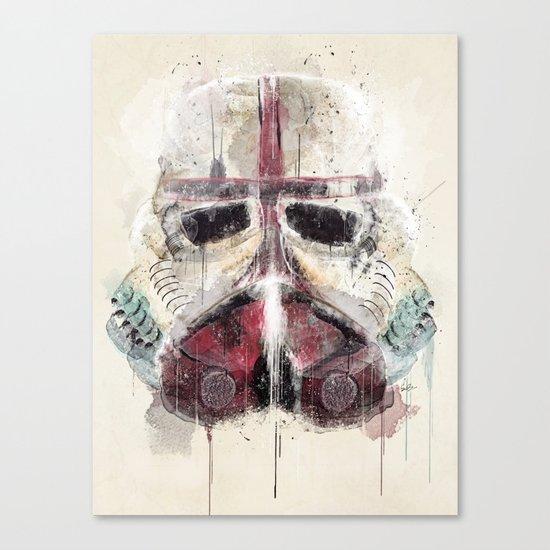 retro trooper Canvas Print