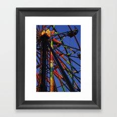 County Fair at dusk. Framed Art Print
