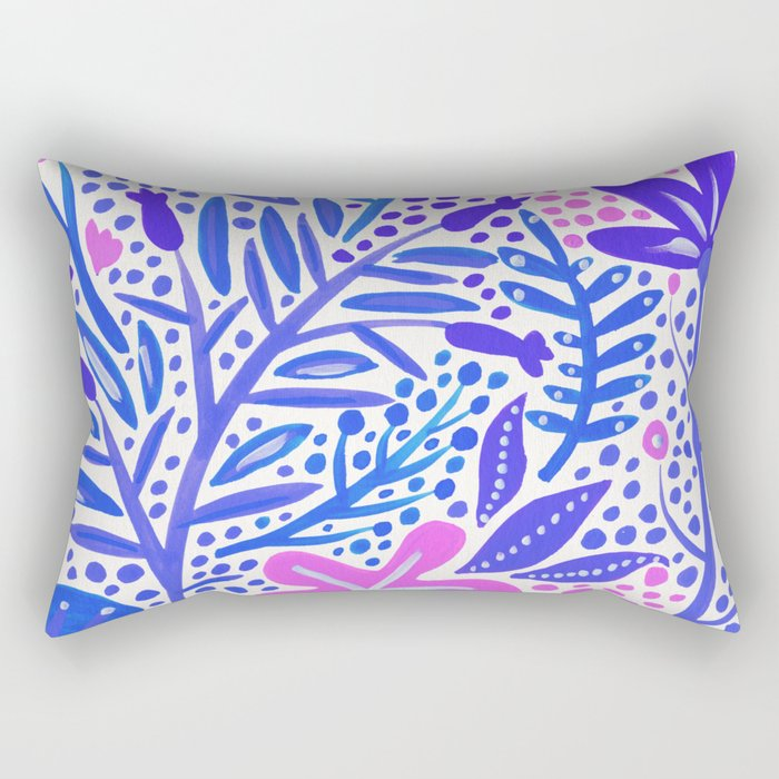 Garden – Indigo Palette Rectangular Pillow
