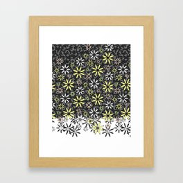 Etched Daisy Framed Art Print