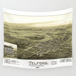 Aerial View of Telford, Pennsylvania (1894) Wall Tapestry