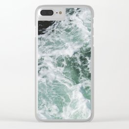Turbulent Waters Clear iPhone Case