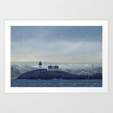 Northern lighthouse  Art Print
