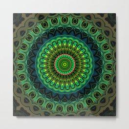 Glowing Mandala 2 Metal Print
