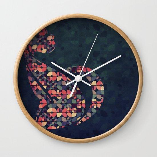 The Pattern Cat Wall Clock