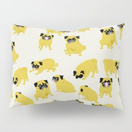 Good Vibes With Nasty The Pug Pillow Sham
