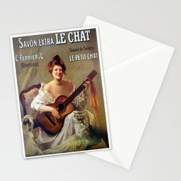 Le Savon. Vintage French Poster Stationery Cards