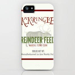 Christmas Reindeer Feed sack iPhone Case