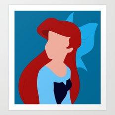 Ariel - Blue Art Print