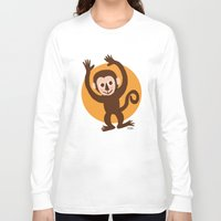monkey island Long Sleeve T-shirts featuring Monkey by BATKEI