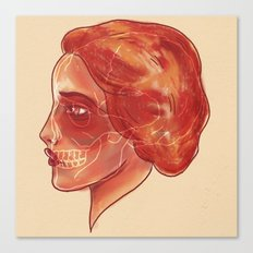 Woman (profile) Canvas Print