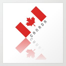 Elegant Maple Leaf Canada Art Print