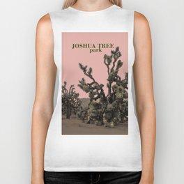 pink joshua tree Biker Tank