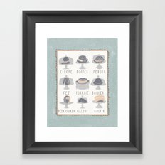 EAT MY HAT Framed Art Print