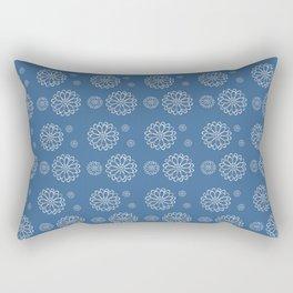 Frost Flower Pattern Rectangular Pillow