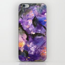 Flowers and mountains iPhone Skin