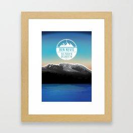 Ben Nevis [Three Peaks Series] Framed Art Print