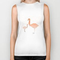 flamingo Biker Tanks featuring FLAMINGO by ARCHIGRAF