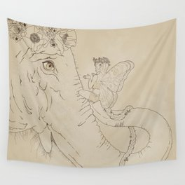 Talks with the Elephant Wall Tapestry