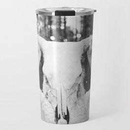 Bull Skull Tribal Woman Vintage Travel Mug