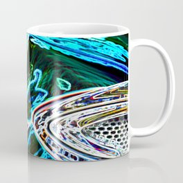 Neon Race Car Coffee Mug