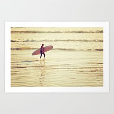 Golden Surf Art Print