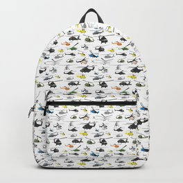 Multiple Helicopters Pattern Backpack
