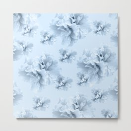 Light Blue Azalea Flower Dream #1 #floral #pattern #decor #art #society6 Metal Print