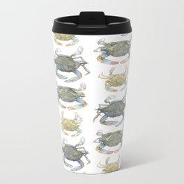 Blue Crabs Metal Travel Mug