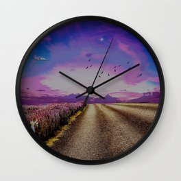 I hope your flowers bloom Wall Clock