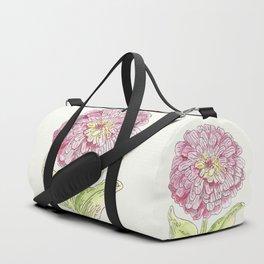 Zinnia Burst Duffle Bag