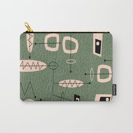 Mid-Century Atomic Green Abstract Carry-All Pouch