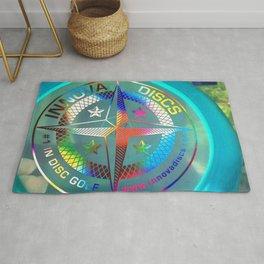 Disc Golf Boss Frisbee Blue Crystal Rainbow First Run Proto Rug