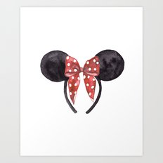 Minnie Ears Art Print
