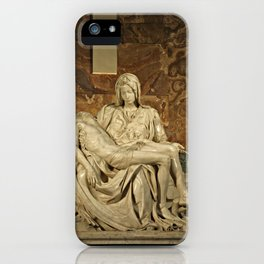 Michelangelo's Pieta in St. Peter's Basilica                                              iPhone Case