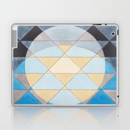 Triangle Pattern No. 14 Circles in Black, Blue and Yellow Laptop & iPad Skin