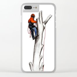 Arborist Tree Surgeon gift or present Clear iPhone Case