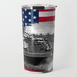 Nimitz Class Aircraft Carrier Travel Mug