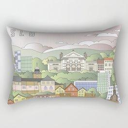 Oslo City Poster Rectangular Pillow