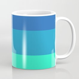 Summer strong geometric vertical graphic lines for home, office, beach house, farm house decoration Coffee Mug