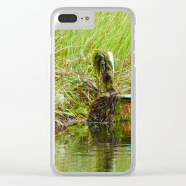 Swamp Chair Clear iPhone Case