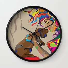 """""""Fall in Lust"""" Paulette Lust's Original, Contemporary, Whimsical, Colorful Art  Wall Clock"""