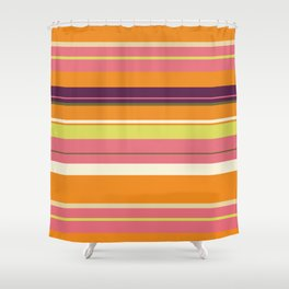 Miami Stripes Shower Curtain