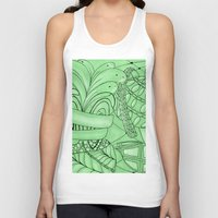 zentangle Tank Tops featuring Zentangle by Annalisa Amato Art