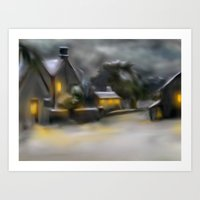 Tissington In Winter Art Print
