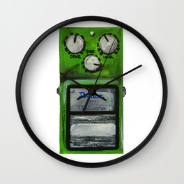"Ibanez TS-9 Tube Screamer Guitar Pedal acrylics on 5"" x 7"" canvas board Wall Clock"