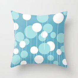 Float - Blue & White Throw Pillow