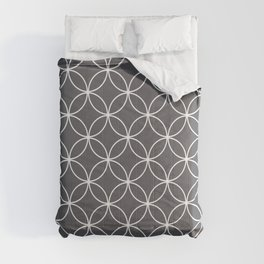 Circles Graphite Gray Comforters